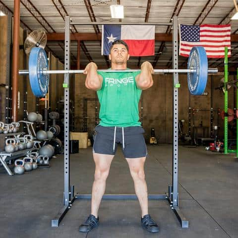 The 15 Kg Shorty Barbell by Fringe Sport - Specialty for compact spaces. Great for any small garage gyms or boxes, competitions, traveling, junior athletes, or general use for Olympic, Power, and WOD lifts.