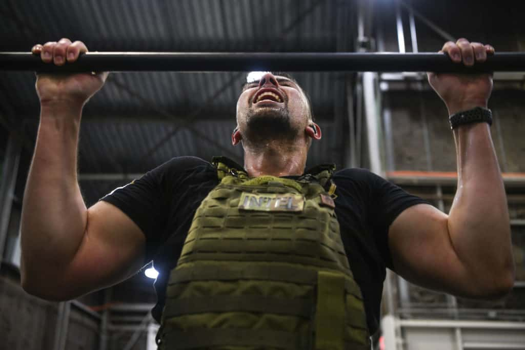 Murph Challenge Pullups with Plate Carrier or Vest 20lb.