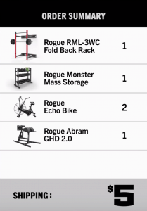Rogue Black Friday - Excellent way to save money on shipping