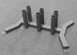 American Barbell 6 Bar Vertical Storage close up