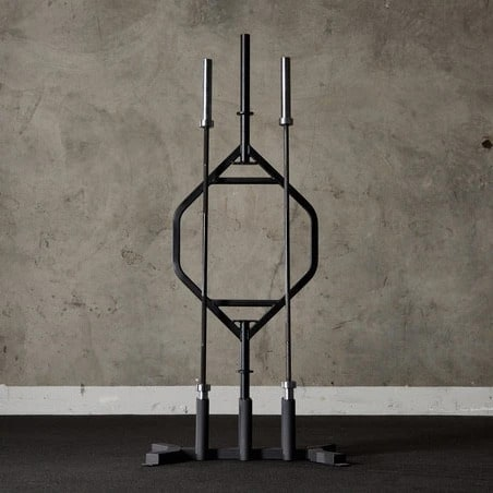 American Barbell 6 Bar Vertical Storage full view