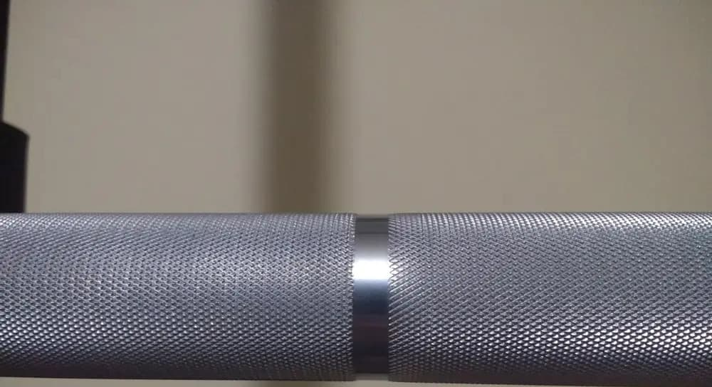 American Barbell Grizzly Power Bar knurling