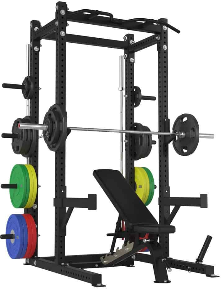 American Barbell Half Rack with barbells