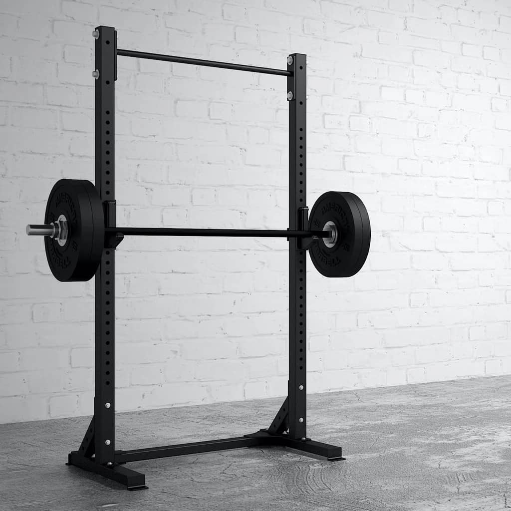 American Barbell Pull-Up Squat Stand with a black barbell