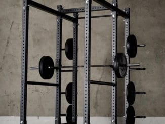 American Barbell Rack Package with black barbells