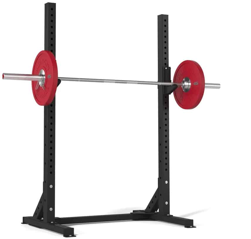 American Barbell Squat Stand with a red barbell