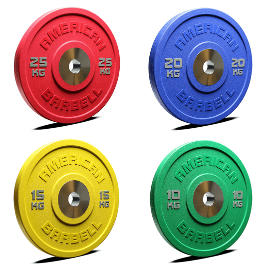 American Barbell is the first company to manufacture a urethane bumper plate. These bumpers are exceptionally durable and have a very low bounce. We use premium German urethane to ensure the highest quality and bright, vibrant color. All markings & logos are color molded into the bumper creating an excellent look and long lasting performance. The 140MM hard chrome hub is a solid one-piece construction and has a chamfer for easy bar loading and reduced bar sleeve wear.