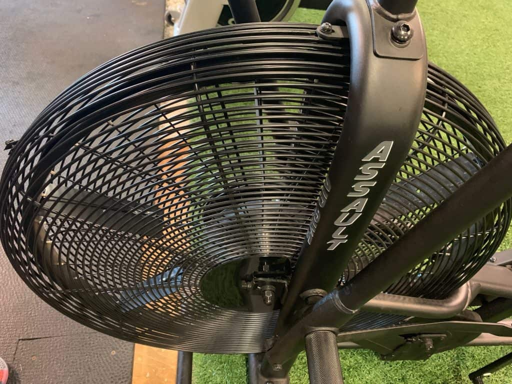 Assault Fitness AirBike - showing fan blades.