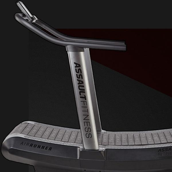 Side view of the Assault AirRunner Treadmill is an excellent version of the motorless treadmill. It can burn up to 30% more calories compared to a traditional motorized treadmill.