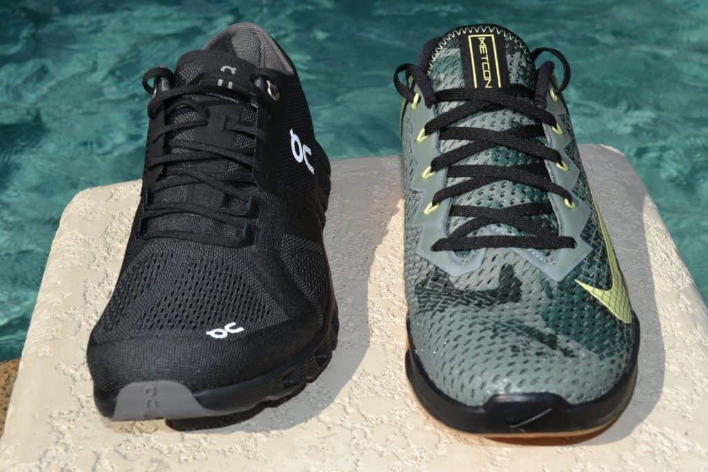 Cloud X Versus Nike Metcon 6 - Front View