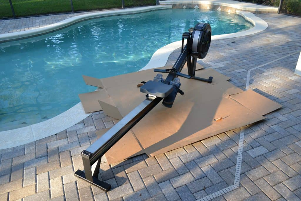 Concept 2 Model D Indoor Rower fully assembled.