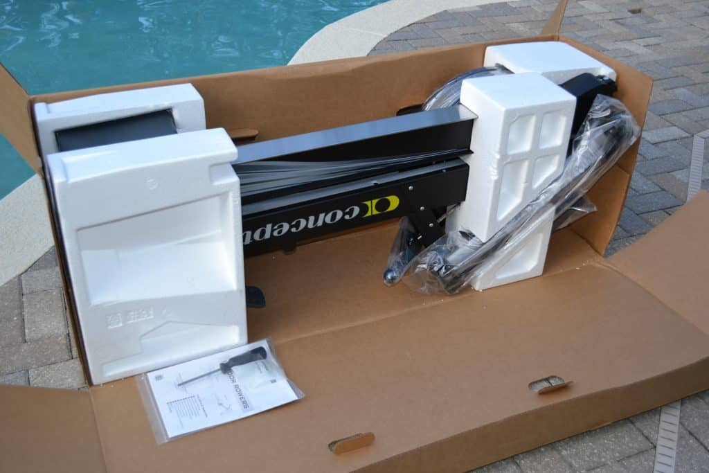 Concept 2 Model D Rower comes packed securely in styrofoam.