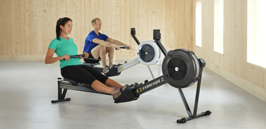 Concept 2 Model D indoor rower - shown inside