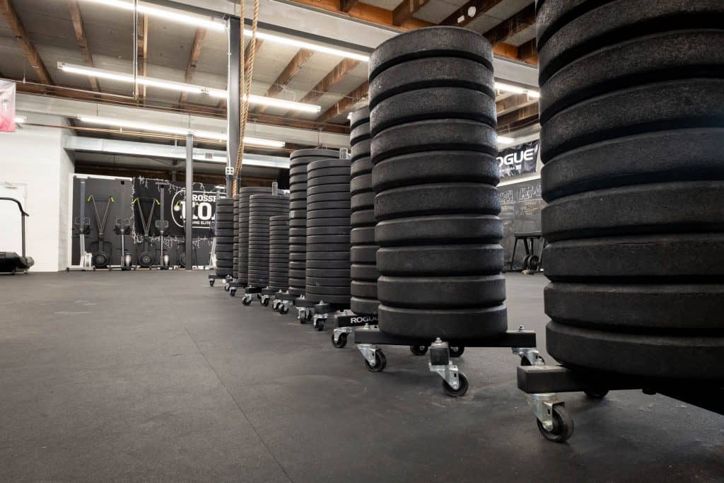 Bumper plates at CrossFit KOA