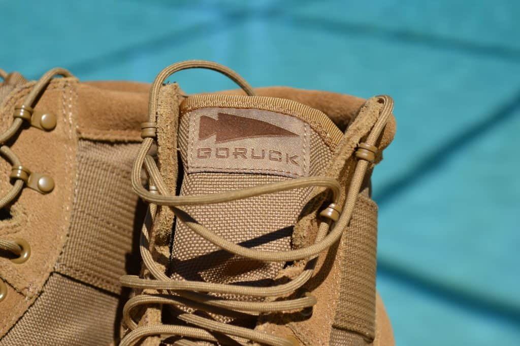 GORUCK spearhead logo on the MACV-1 Rucking Boot