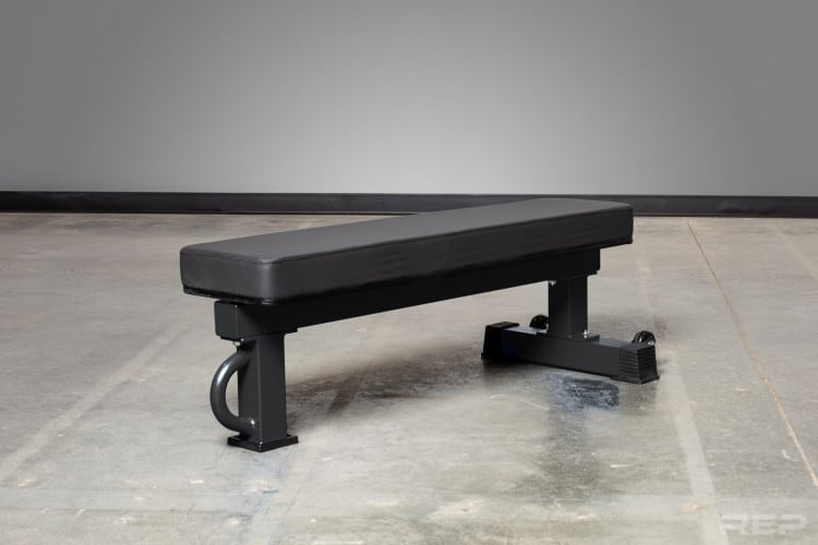 FB-5000 Wide Pad Bench - from Rep Fitness - In Black