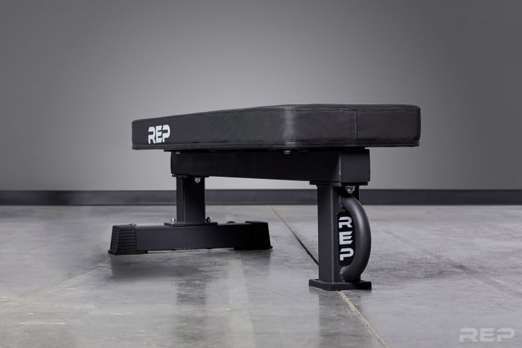 FB-5000 Wide Pad Bench - from Rep Fitness - Floor Level View