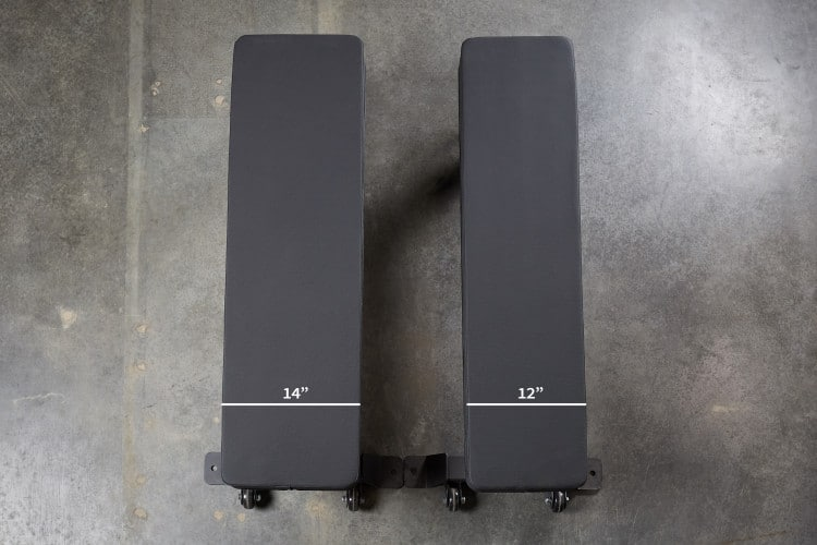 FB-5000 Wide Pad Bench - from Rep Fitness - Overhead Comparison