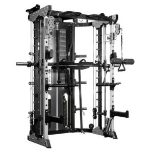 Force USA G12 is a commercial quality combo machine - power rack, smith machine, and functional trainer all in one.