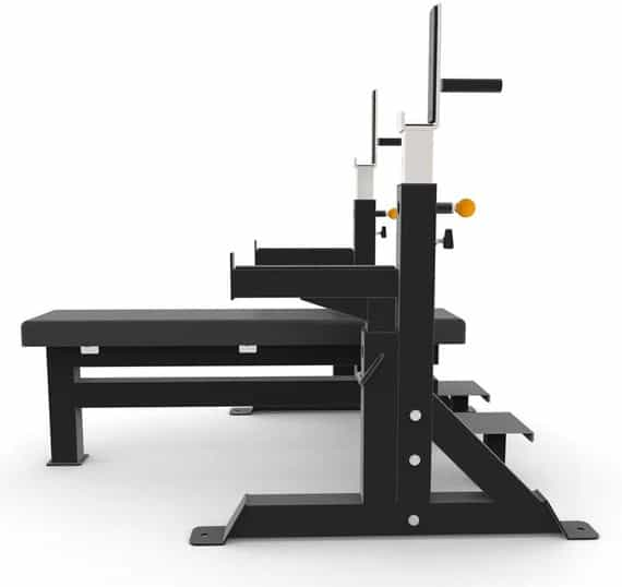 Force USA Commercial Heavy Duty IPF Spec Olympic Bench Press side view left-crop