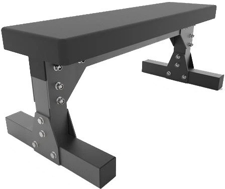Force USA Heavy Duty Commercial Flat Bench quarter full view-crop