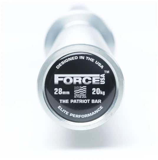 Force USA Patriot Barbell end view-crop