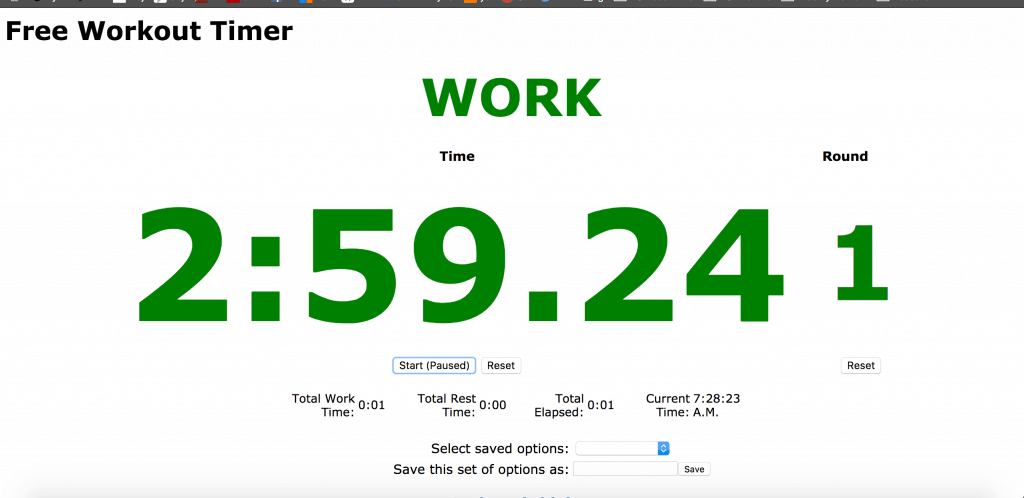 Free Workout Timer screenshot