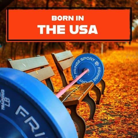Fringe Sport 20kg Pumpkin Spice Barbell made in the USA