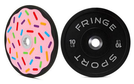 Fringe Sport Donut Bumper Plates - Doughnuts or Donuts?  Either way these are the most unique 10 lb Olympic Bumper Plates you can buy.
