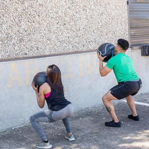 Fringe Sport Immortal Wall Ball squats