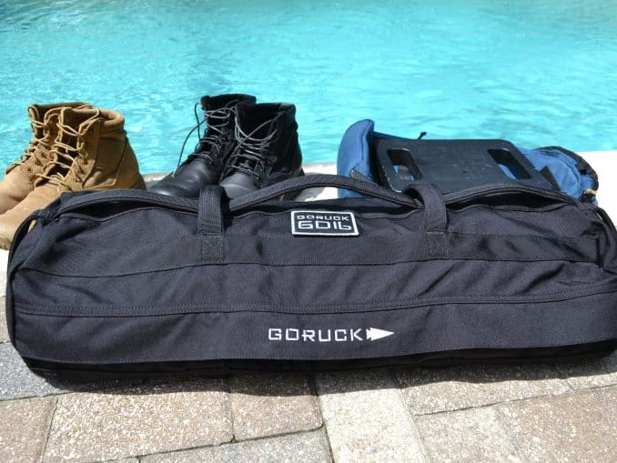 GORUCK Sandbag in 60 lbs size with Bullet ruck and MACV-1 boots