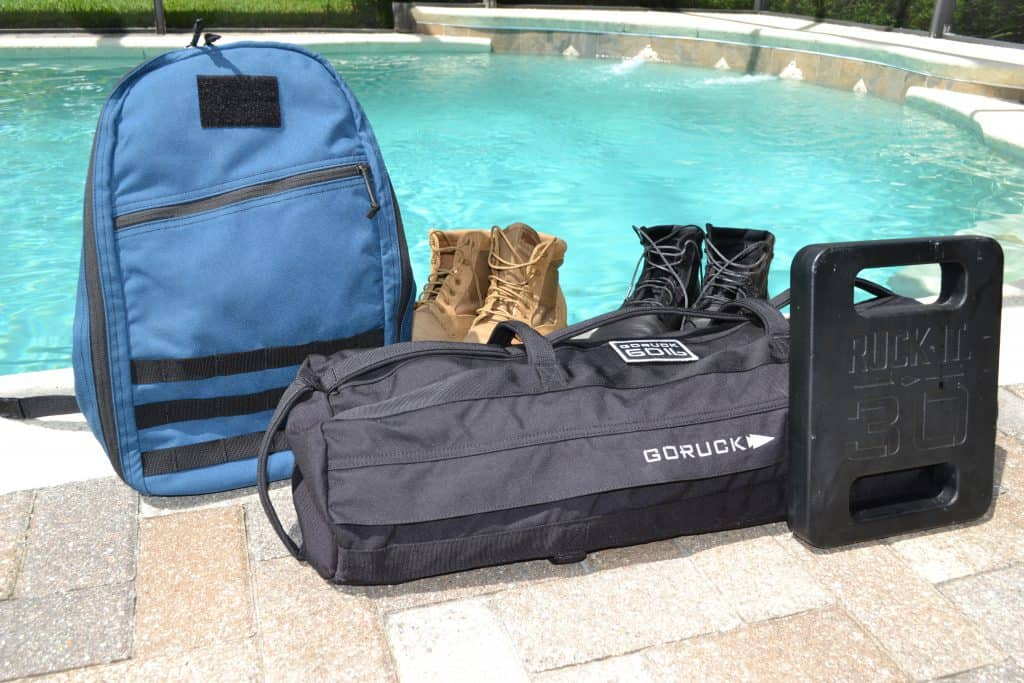 GORUCK Sandbag and gear