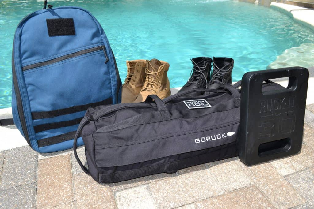 GORUCK Sandbag in 60 lb size with 15L Bullet and 30 lb Expert Ruck Plate