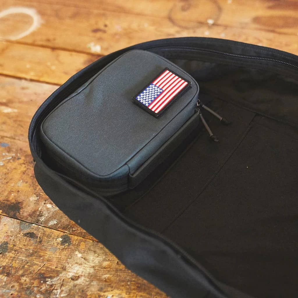 Padded Field Pocket mounted inside a GORUCK GR1 - right where it is supposed to be.