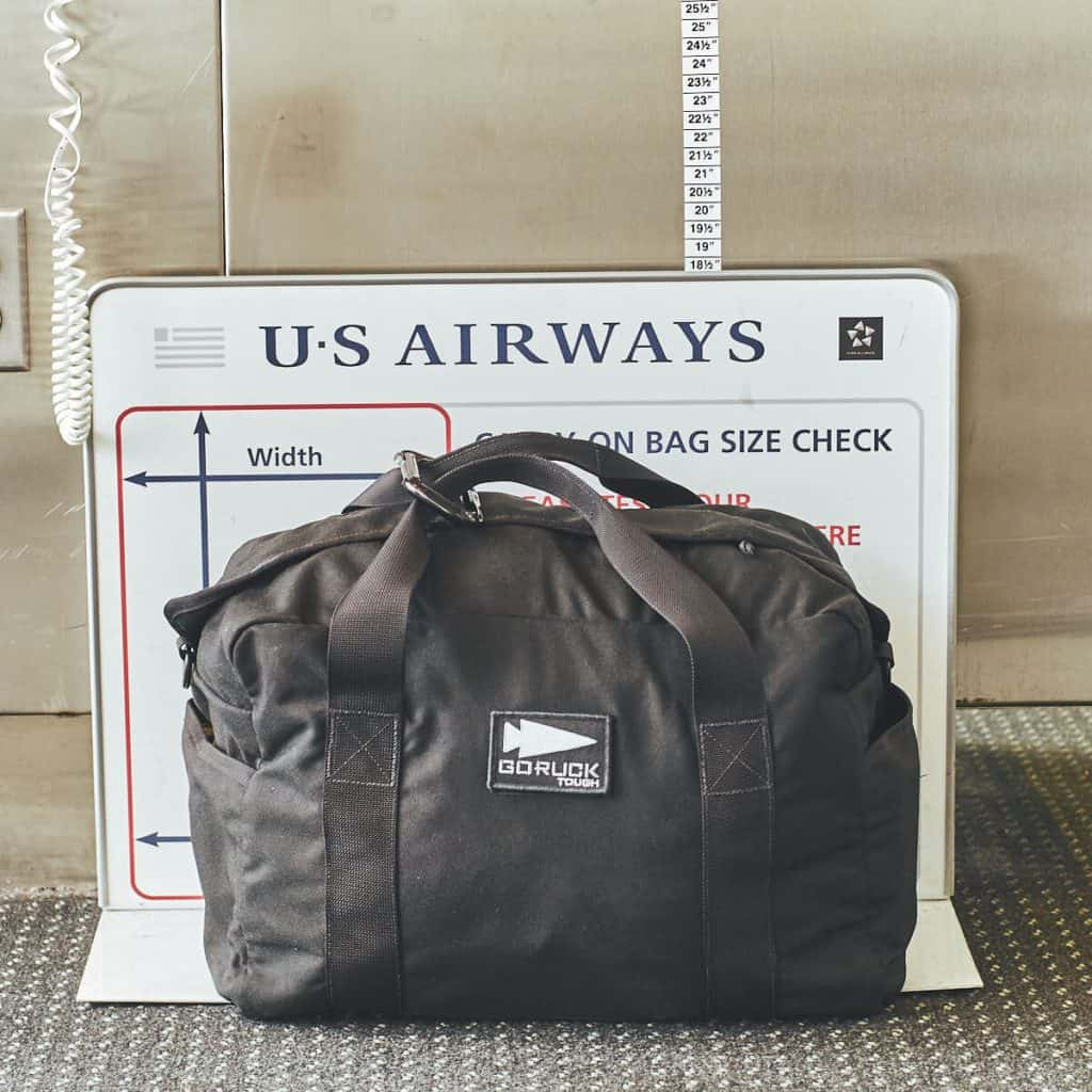 GORUCK Kit Bag Black carry on