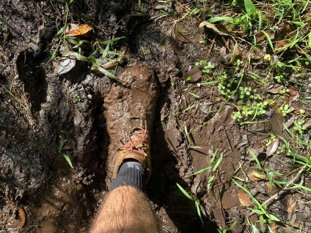 GORUCK MACV-1 Jungle Ruck Boot in the mud