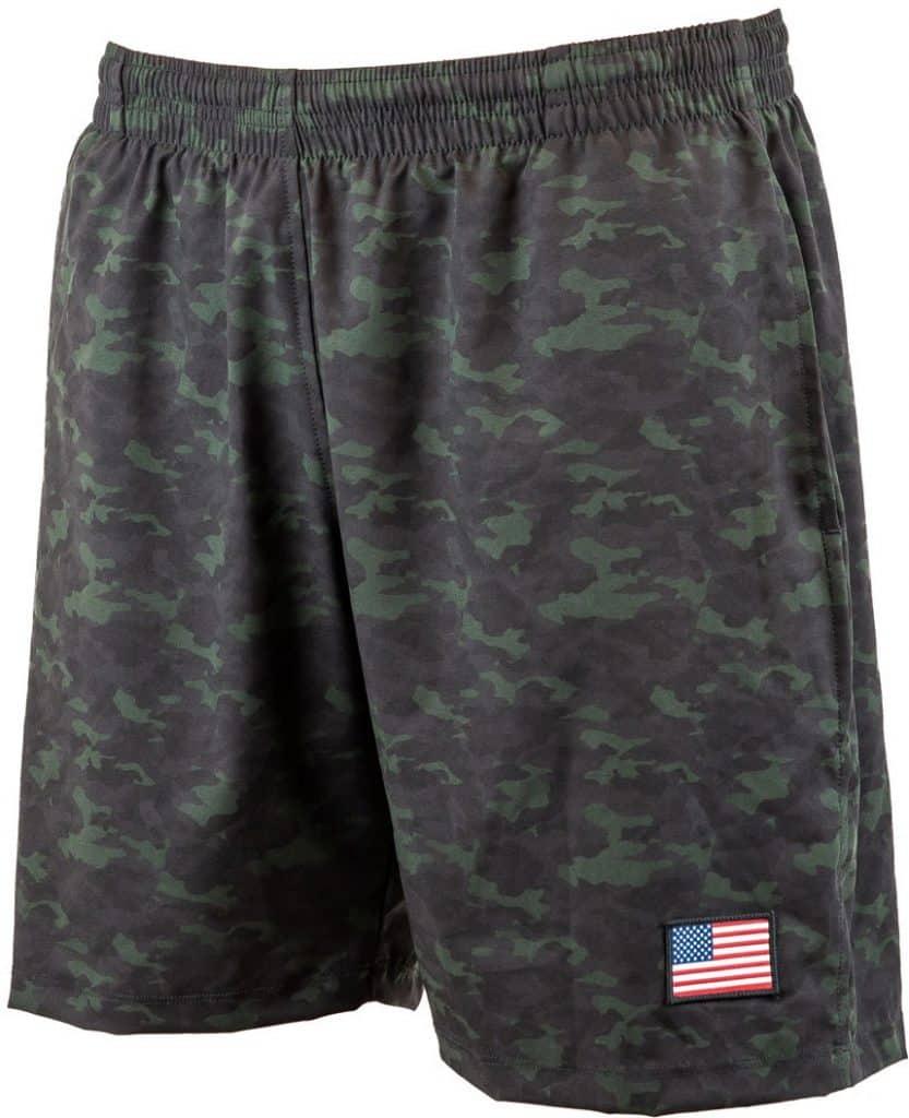 GORUCK Men's American Training Shorts camo front view