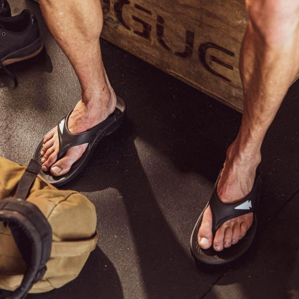 GORUCK OOFOS OOriginal Sandal worn 3