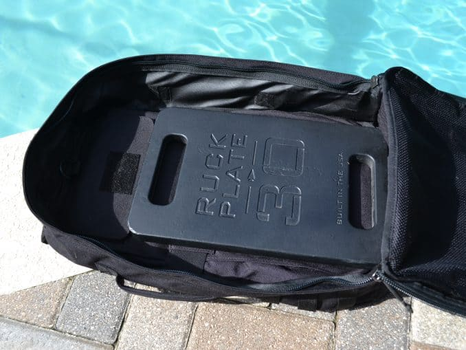 GORUCK Rucker 2 with 30 lb plate inside.