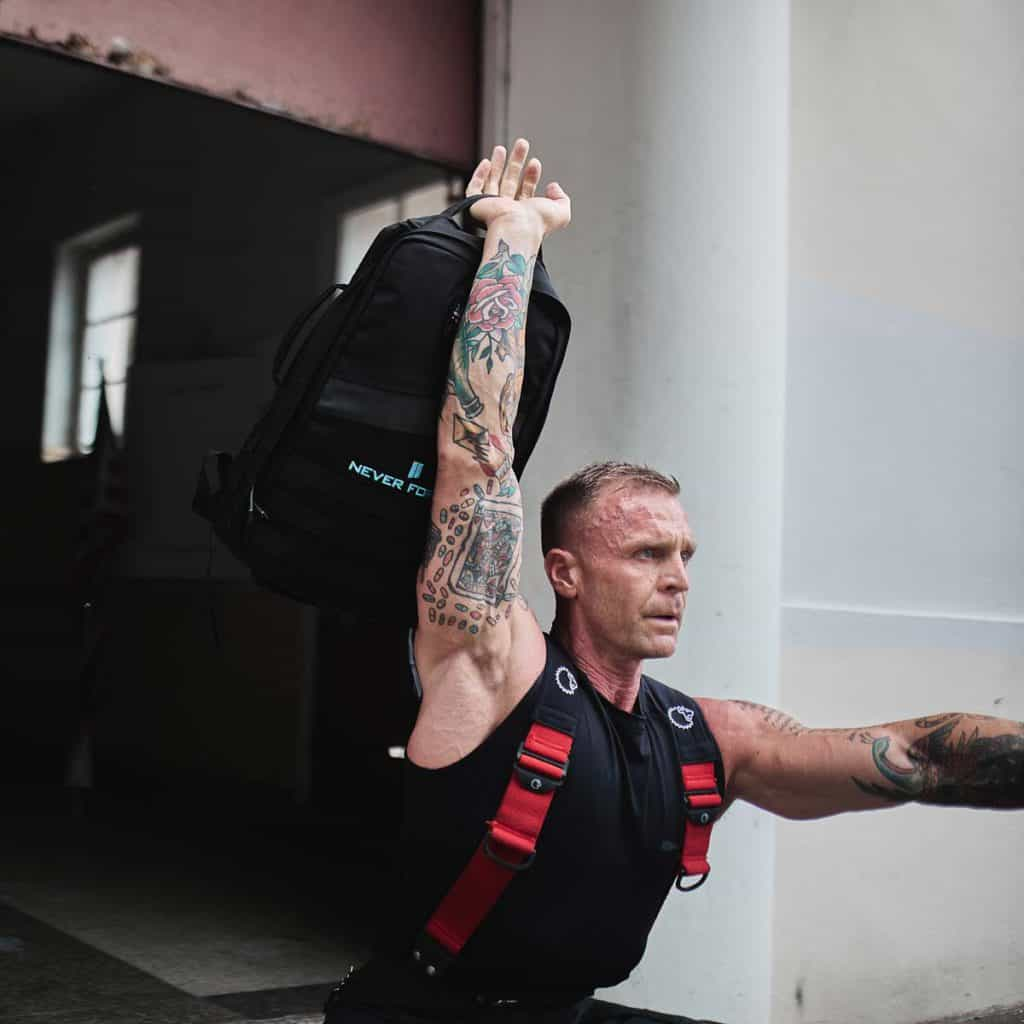 GORUCK Rucker 20L while working out