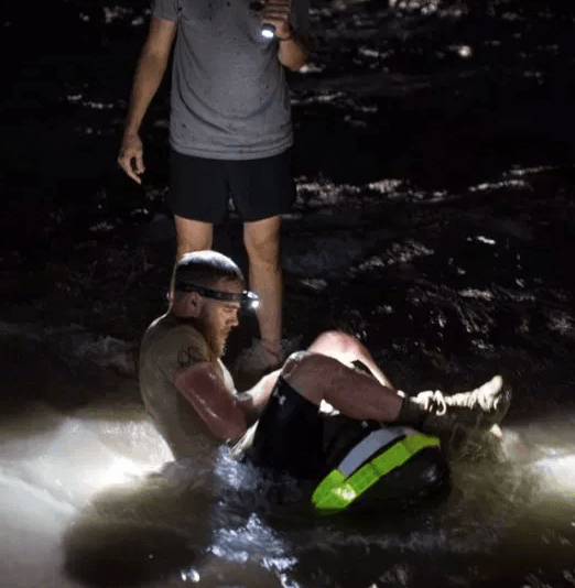 A GORUCK Selection event - one of the tougher events, your feet are going to be submerged in water, and very wet.
