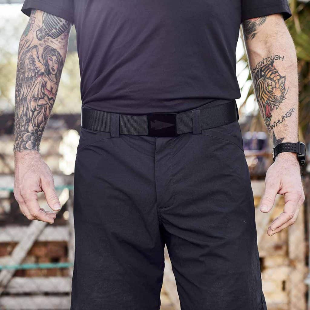 GORUCK Spearhead Tactical Belt Coal - Etched front