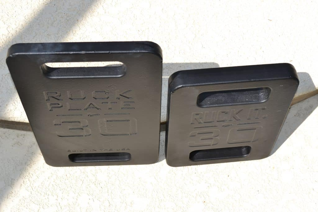 GORUCK Standard Plate vs Expert Plate  - Expert plate is much wider in the 30lb size.