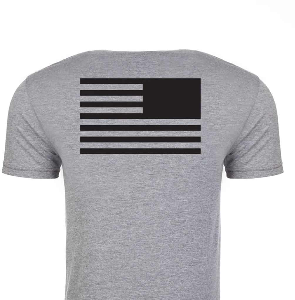 GORUCK T-Shirt Reverse Flag back gray