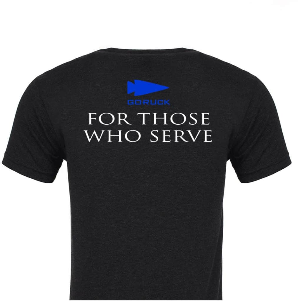GORUCK T-shirt - One Percent For Those Who Serve back