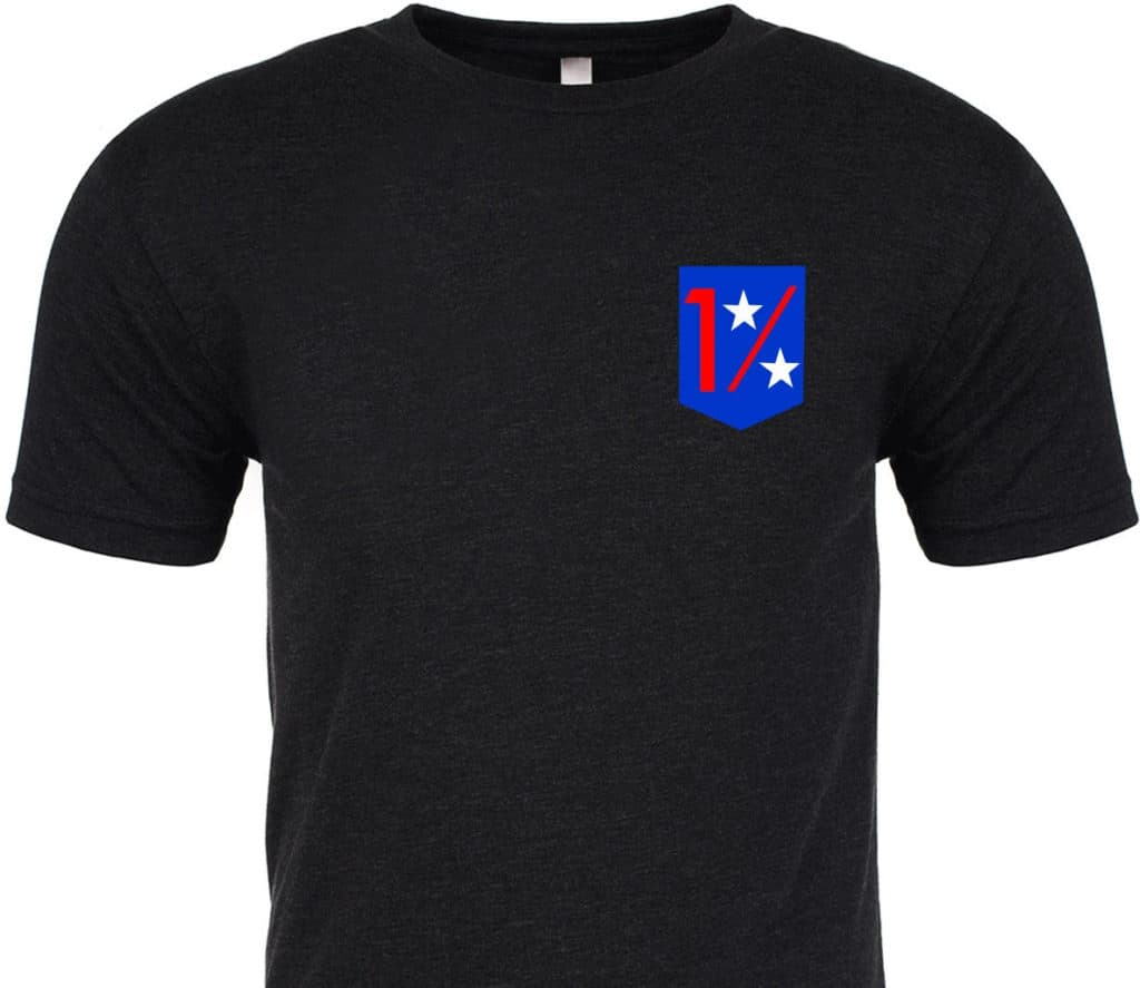 GORUCK T-shirt - One Percent For Those Who Serve front