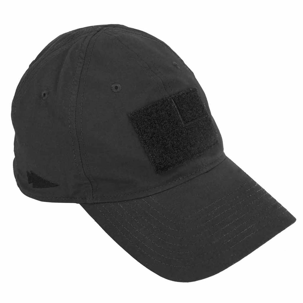 The GORUCK TAC hat is a tactical hat - hence the velcro on the front.