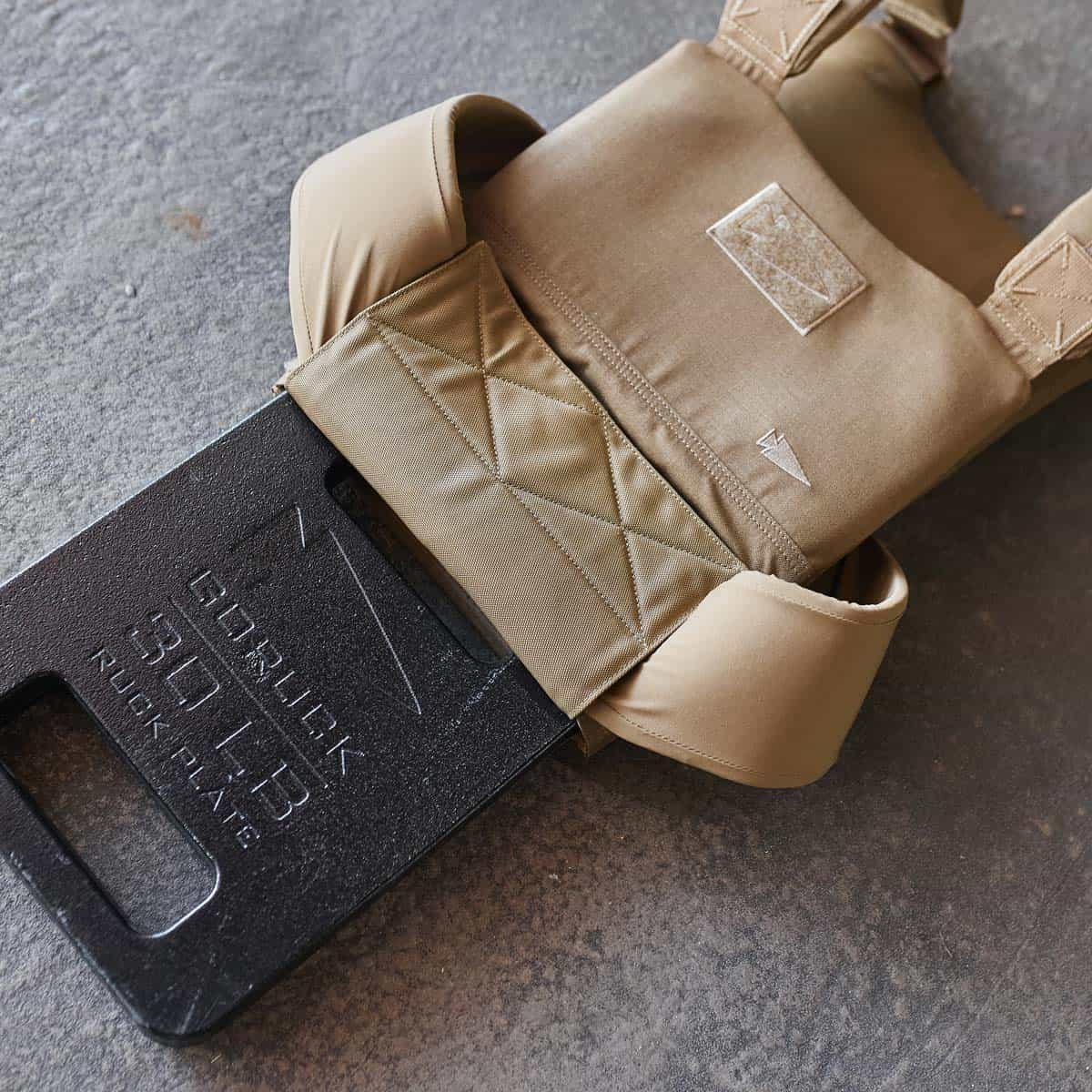 GORUCK Training Weight Vest coyote plate