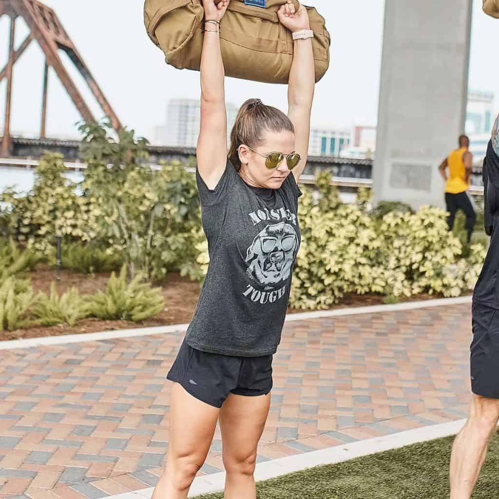 GORUCK Women's American Training Shorts worn during endurance training