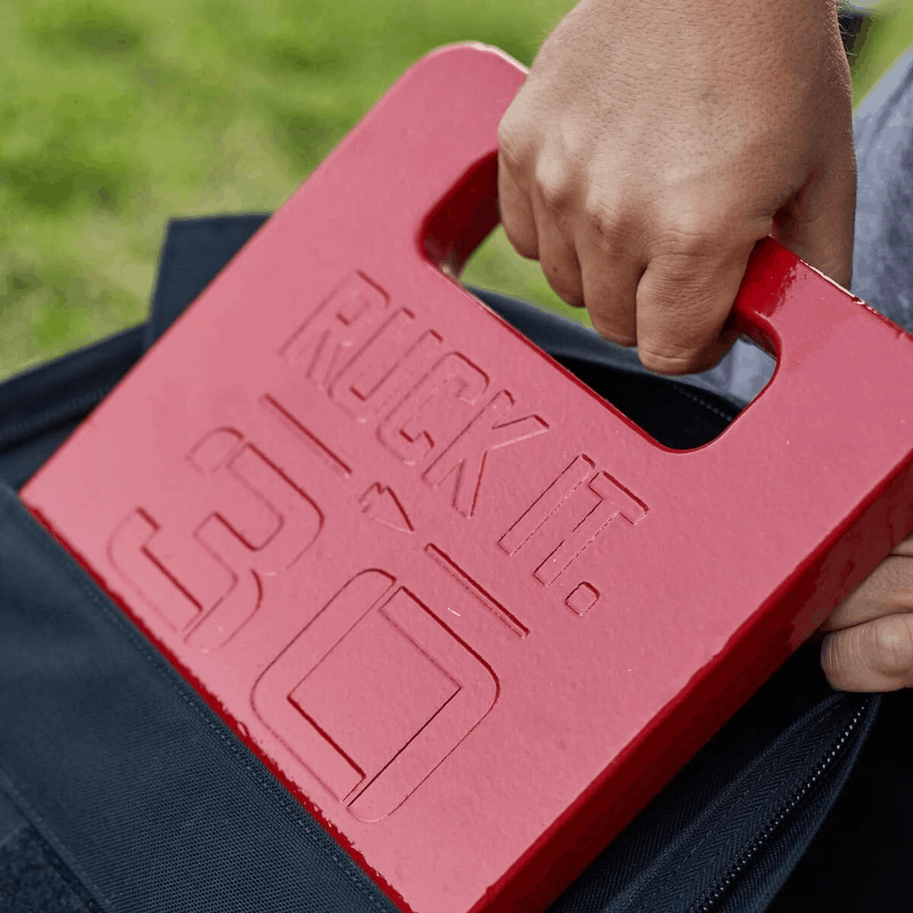 GORUCK ruck plates now available in colors - red or blue